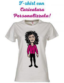 T-shirt con caricatura personalizzata