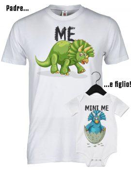 Padre e figlio t-shirt e body dinosauro